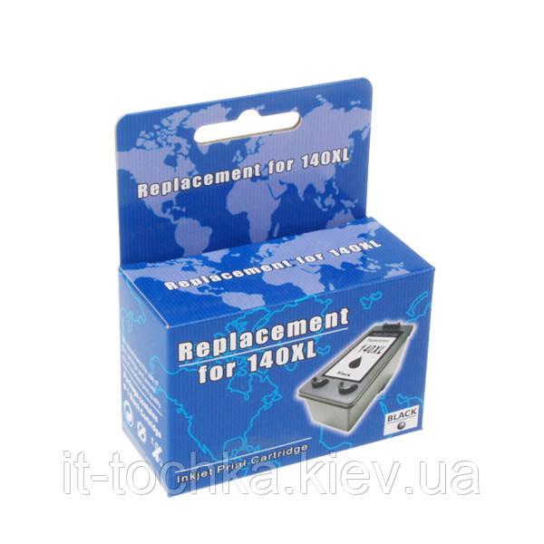 Картридж струйный microjet для hp officejet j5783/j6483 hp 140xl black (hc-f37l) повышенной емкости