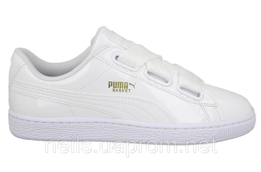 Женские кроссовки Puma Basket Heart Patent White  продажа 9e1ad02ea4705