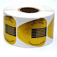 Форма для наращивания ногтей, золотая широкая, 500шт