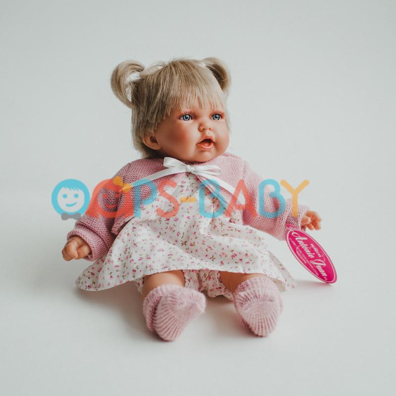 Кукла Антонио Хуан Петит в голубом, в розовом 27 см