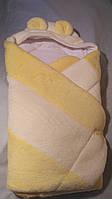 """Конверт  с капюшоном  для новорожденных """" coral fleece """" , мех,  """"Duetbaby"""""""