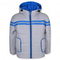 Детская демисезонная куртка для мальчика СПАРТА светло-серая, р.98,110