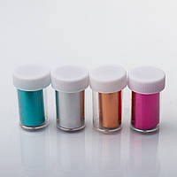 Набор переводной фольги для литья в баночках,12 шт разные цвета, фото 1