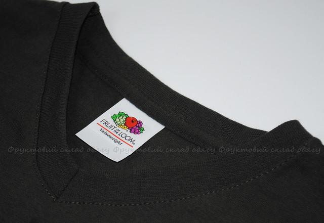 Светлый графит мужская футболка с V-вырезом