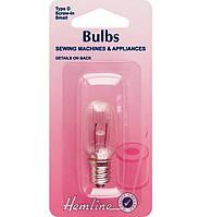 Лампочка для швейных бытовых машин, вставляющаяся (штыковая), маленькая