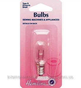Лампочка для побутових швейних машин, що вставляються (штикова), маленька