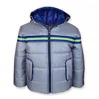 Детская демисезонная куртка для мальчика СПАРТА серая, р.98-116