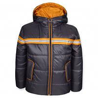 Детская демисезонная куртка для мальчика СПАРТА графит, р.98,104