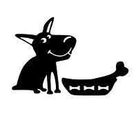 Наклейка на холодильник Счастливый пес