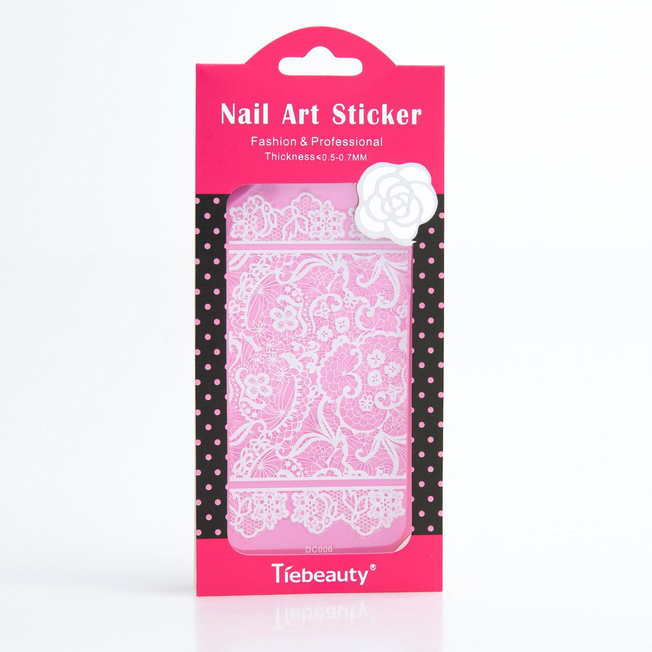 Кружево белое для дизайна ногтей