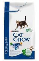 Cat Chow Feline 3 в 1 15 кг-корм для кошек с индейкой (формула тройного действия)