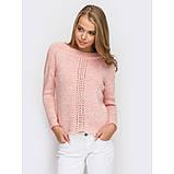 46-48 Нарядный свитер вязаный в персиковом цвете, фото 2
