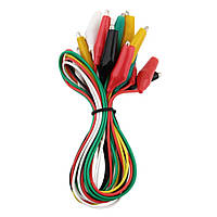 Набор монтажных проводов с зажимами 10шт.