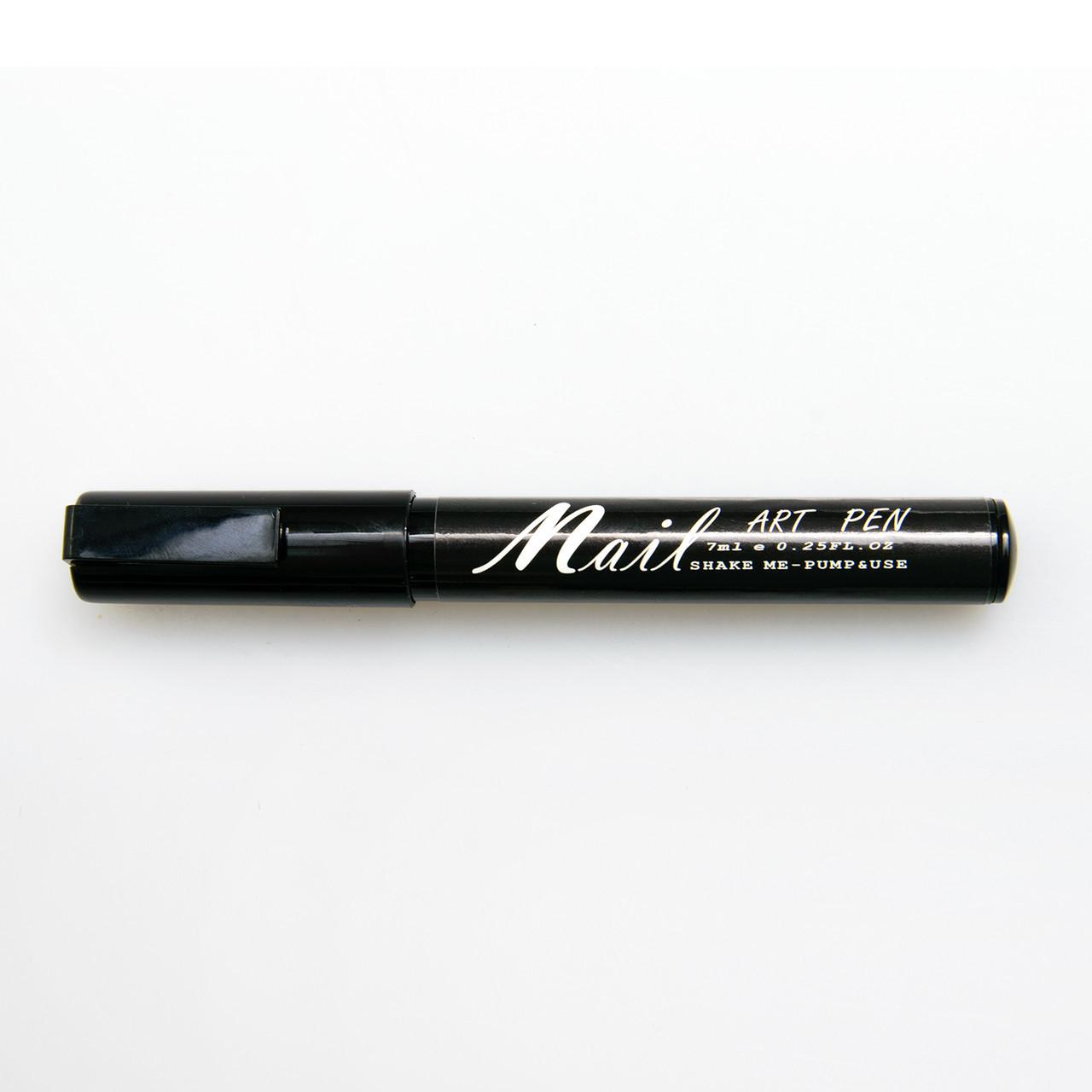 Карандаш-маркер Nail Art Pen с акриловой краской для рисования, дизайна на ногтях, цвет черный