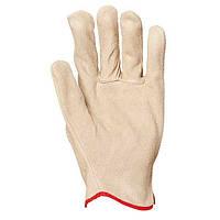 Перчатки для общих работ, кожаные. Размер 10