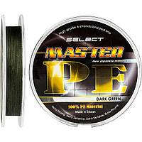 Шнур Select Master PE 100m 0.08мм 11кг темн.-зел.
