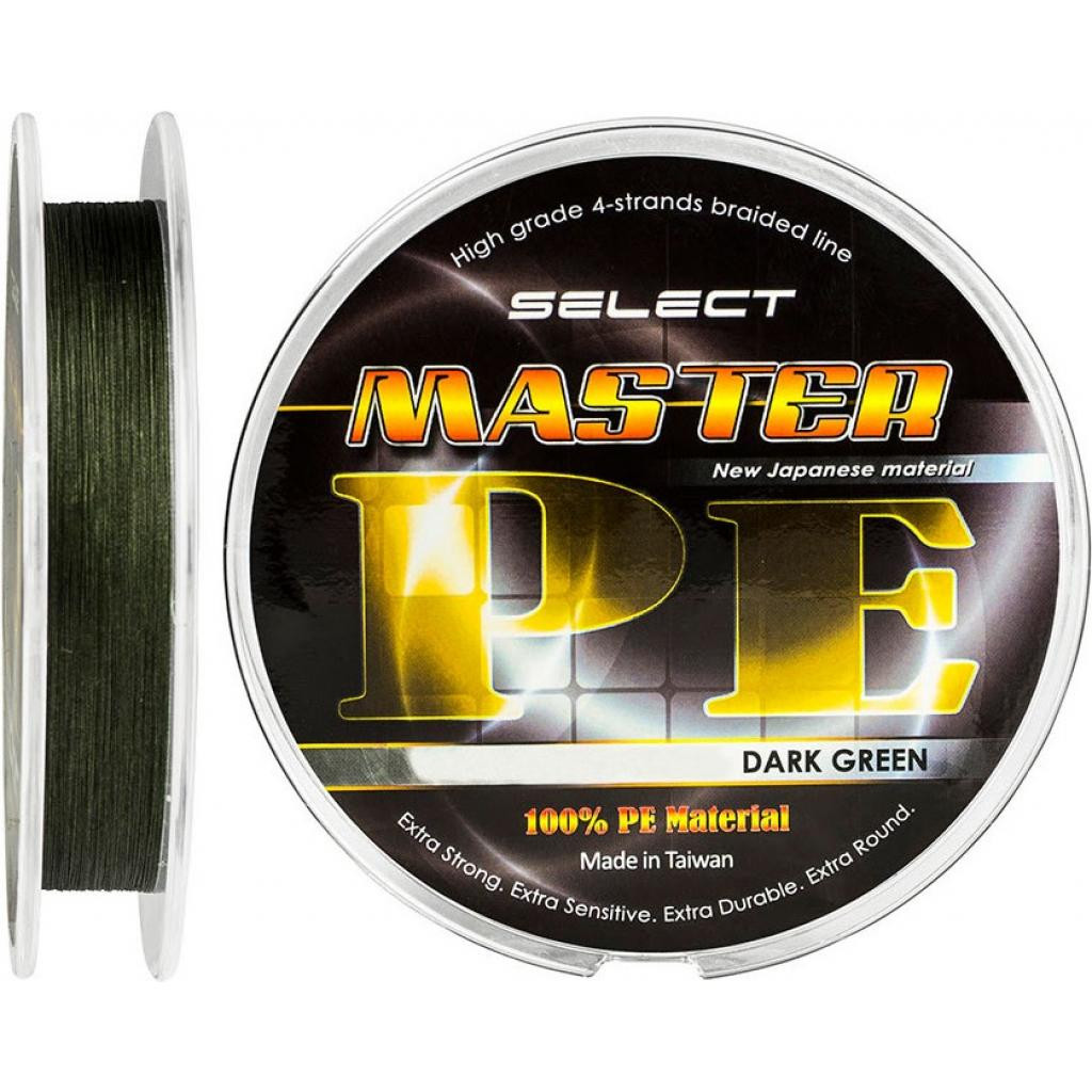 Шнур Select Master PE 100m 0.10мм 13кг темн.-зел.