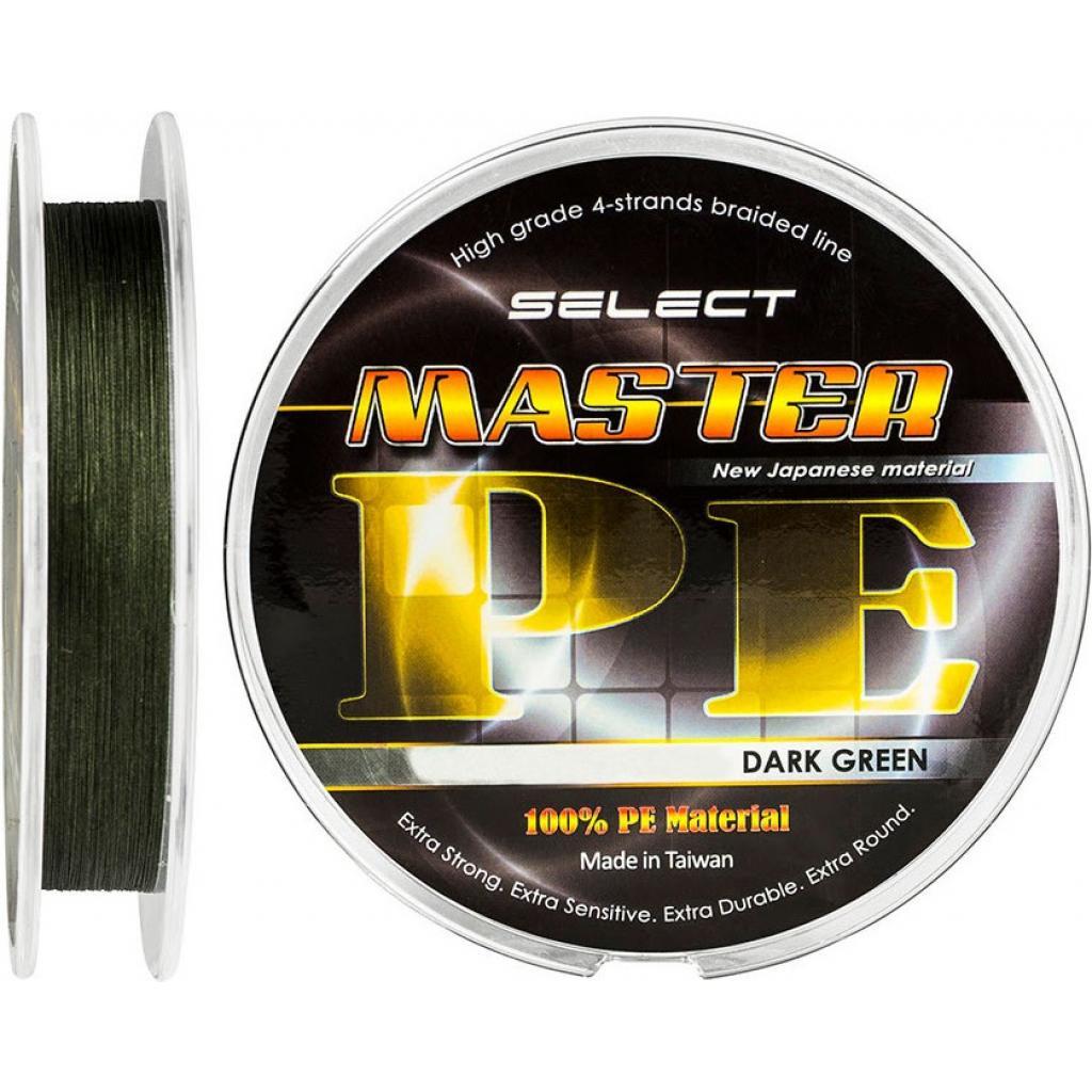 Шнур Select Master PE 100m 0.16мм 19кг темн.-зел.