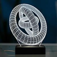 Настольный светодиодный 3D светильник КОЛЬЦА, фото 1
