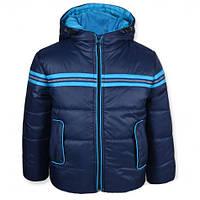 Детская демисезонная куртка для мальчика СПАРТА синяя, р.98,116