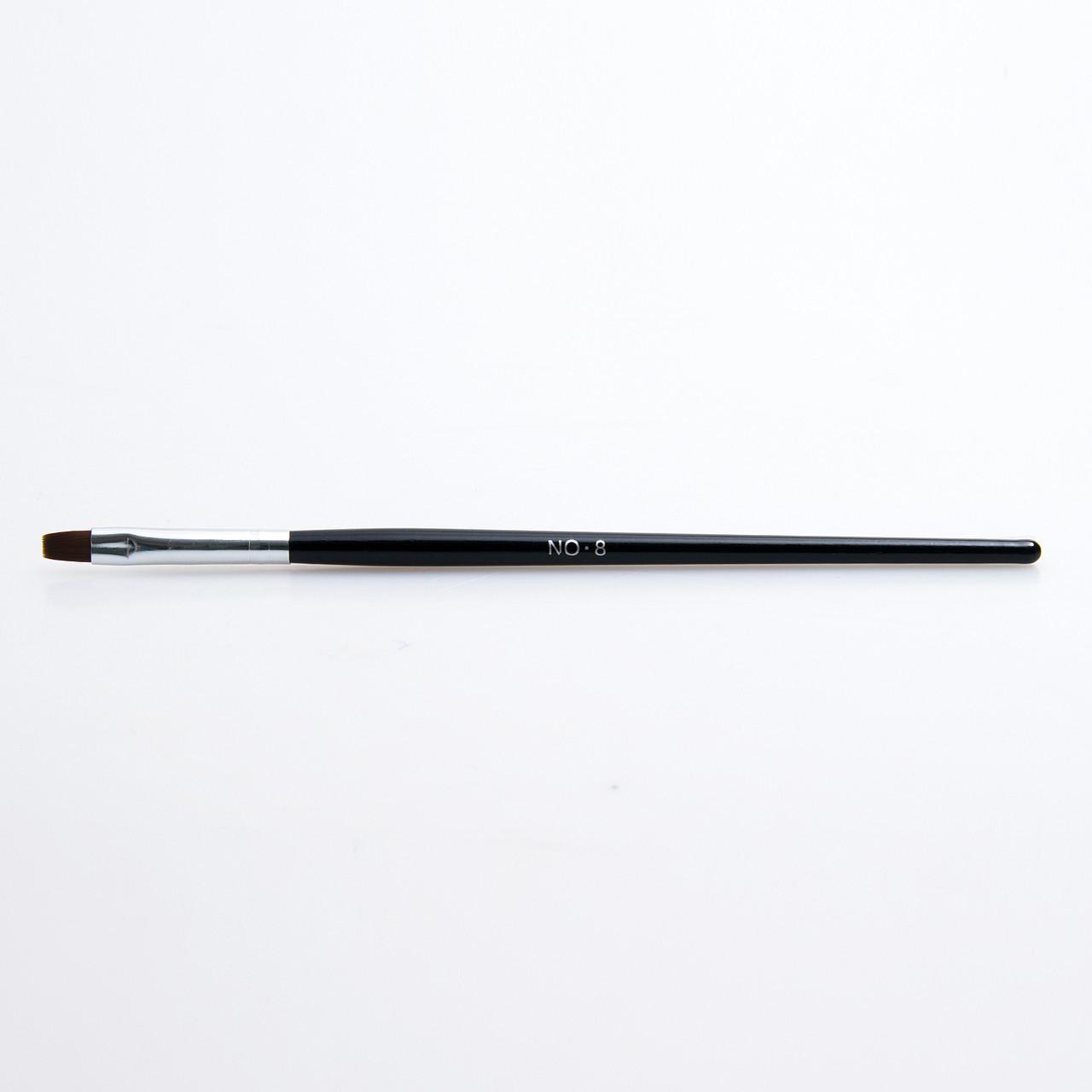 Кисти для геля №8, черная ручка