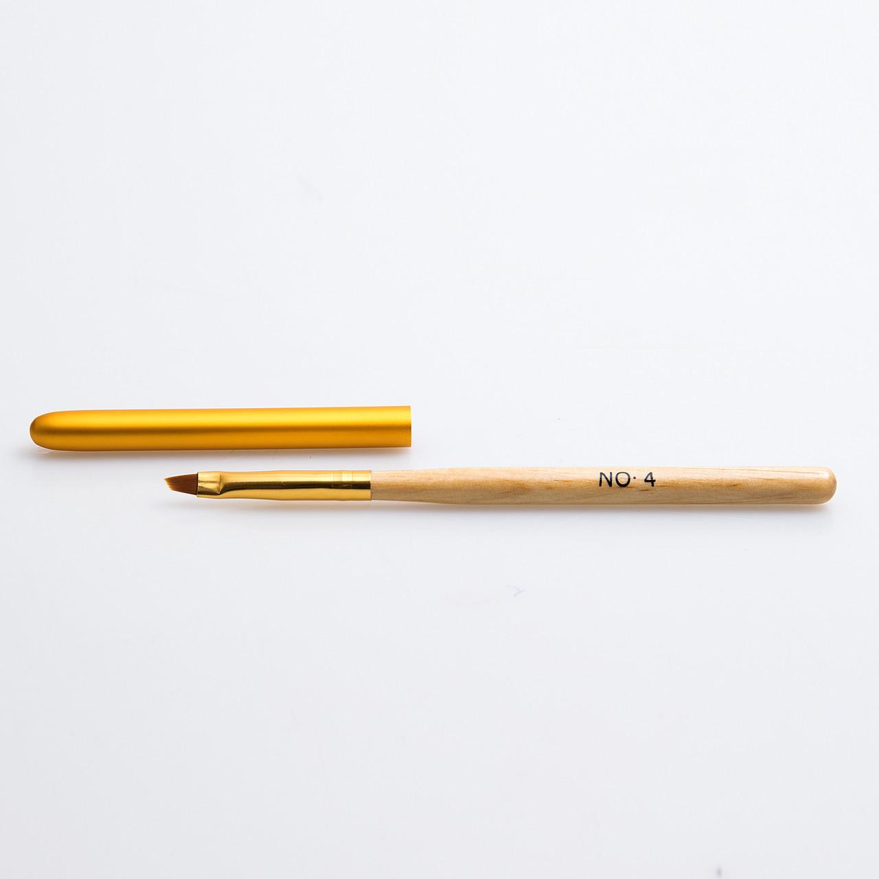 Кисти для геля №4, деревяная ручка