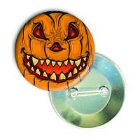 """Закатной круглый значок - смайлик """"Кошмарный Хеллоуин"""""""