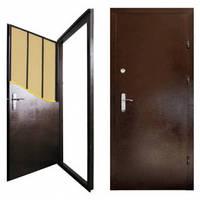 """Двері металеві """"Офіс титан"""" 860мм (крокодил з 2-х сторін) ліві ПП"""