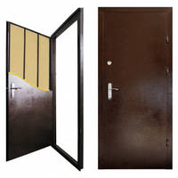 "Двери металлические ""Офис титан"" 860мм (медь с 2-х сторон) левые"