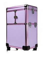 Большой чемодан для косметики, раскладной на колесах 3551 YRE