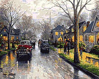 Картина-раскраска Mariposa Дождливая Англия Худ Томас Кинкейд (MR-Q653) 40 х 50 см