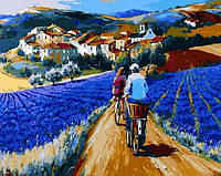 Картина-раскраска Mariposa Прогулка по лавандовым полям Худ Кристиан Жекель (MR-Q874) 40 х 50 см