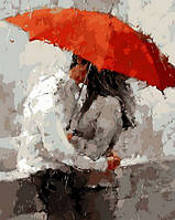 Раскраска по номерам Mariposa Красный зонт Худ Андре Кон (MR-Q1384) 40 х 50 см
