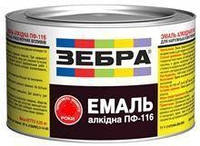 Емаль алкідна 2,8кг ПФ-116 ЗЕБРА 76 Темно-вишневий (Ангар)