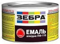 Емаль алкідна 2,8кг ПФ-116 ЗЕБРА 87 Червоно-коричневий (Ангар)