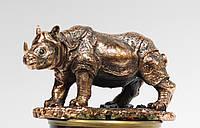 Статуэтка Носорог с медным покрытием. Символ богатства
