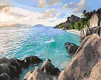 Картина-раскраска Mariposa Карибский берег (MR-Q1897) 40 х 50 см