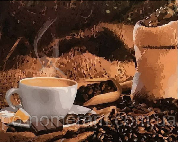 раскраска по цифрам Mariposa кофе с шоколадом Mr Q1951 40 х 50 см купить киев на Po Nomeram