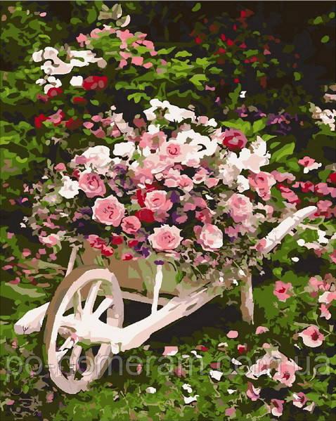 Раскраска по номерам Mariposa Розовый куст (MR-Q2086) 40 х 50 см купить Киев на Po-Nomeram