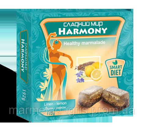 Натуральный мармелад лимон -лён