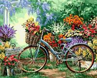 Картина-раскраска Турбо Цветочный рынок Худ Гелсингер Дона (VP639) 40 х 50 см