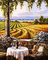 Картина по цифрам Турбо Вид на виноградники Худ Сьюзан Риос (VP671) 40 х 50 см