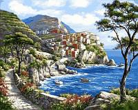 Раскраска по номерам Турбо Райский уголок Худ Сунг Ким (VP672) 40 х 50 см
