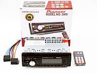 Автомагнитола Pioneer 3909 Usb+RGB подсветка+Sd+Fm+Aux+ пульт (4x50W)
