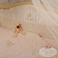Защита в детскую кроватку Baby chic кофейный