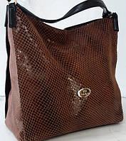 Женская сумка из натуральной кожи шоколадного цвета