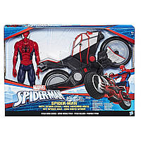 Спайдермен Человек паук  с мотоциклом Марвел Титан Marvel Spider-Man Titan Hero Series Spider-Man Spider Cycle