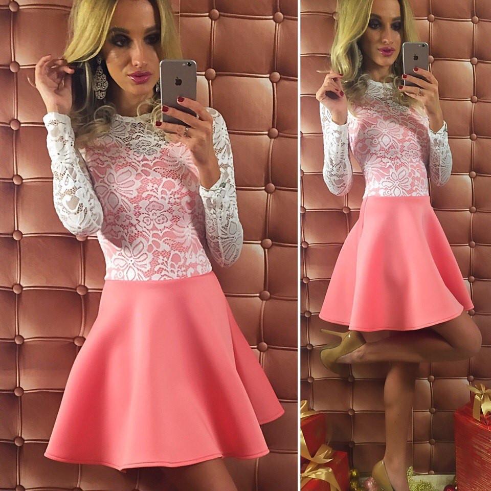 Платье с розовой юбкой фото