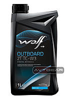 Масло WOLF OUTBOARD 2T TC-W3 1л.