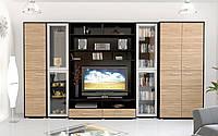 Аманда набор мебели для гостиной (Мебель-Сервис) зебрано+венге